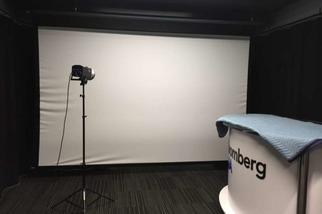 A filming room.