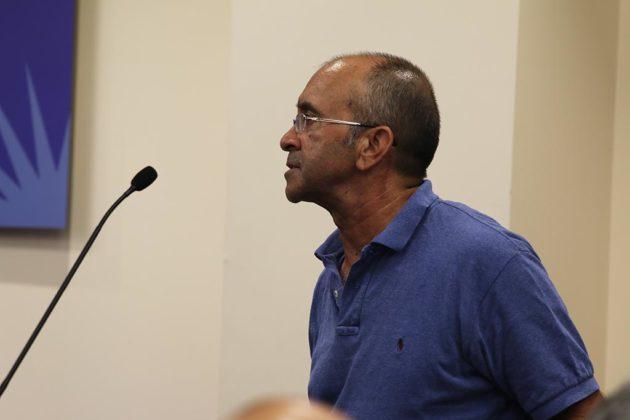 Nick Roy testifies before the School Board