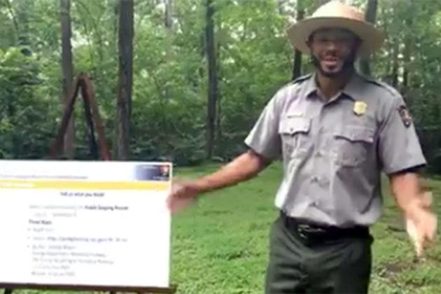 US Park Service Facebook Live presentation about Roosevelt Island