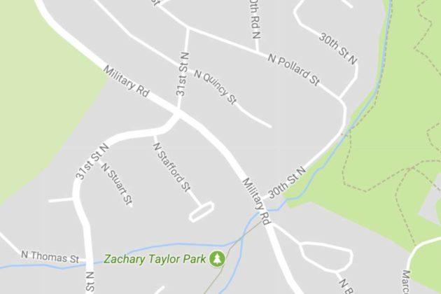Area of road closure on 8/17/17 (via Google Maps)