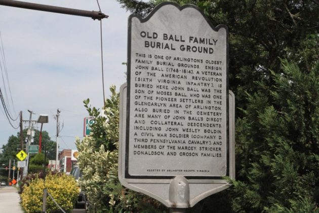 The site is near the old Ball family burial ground