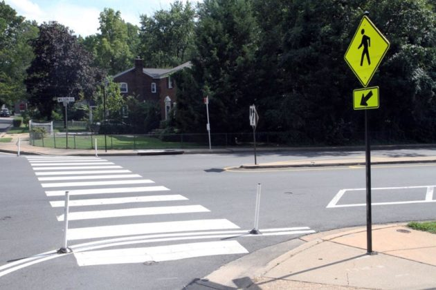 Crosswalks have been re-striped at various intersections
