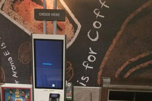 The McDonald's has added self-service kiosks