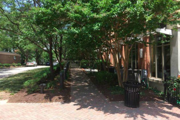 The courtyard's access from Fairfax Drive (via county presentation)