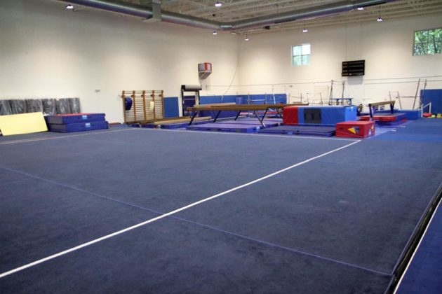 The original gymnastics room also got a revamp
