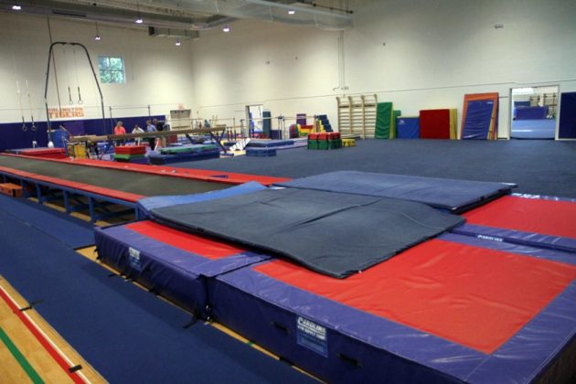 The former gym at Barcroft Sports & Fitness Center is now a second gymnastics room