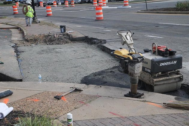 """Work has begun at the """"Five Points"""" intersection in Cherrydale"""