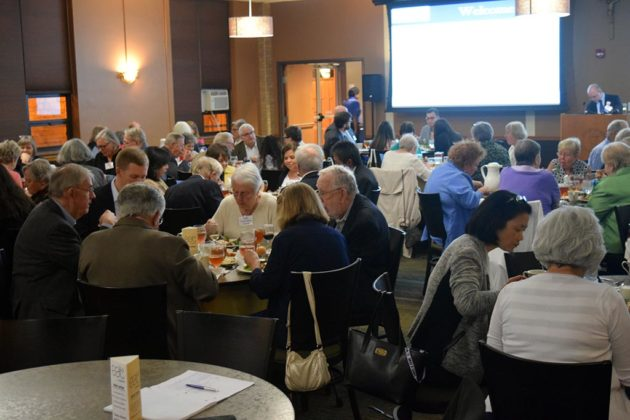 Attendees at the Arlington Committee of 100's monthly program at Marymount University