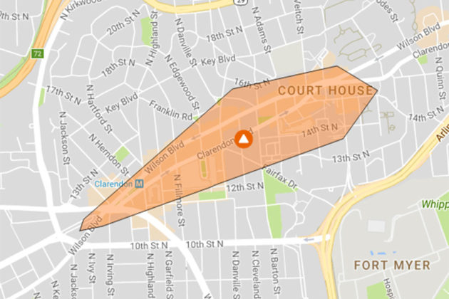 Sept. 22, 2017 power outage map (via Dominion)