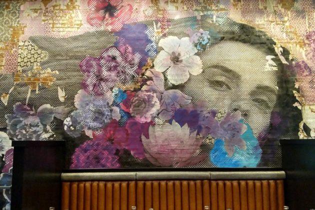 The mural in Wilson Hardware's main bar area
