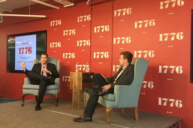 Alex Villanueva of Sprynt being interviewed at 1776