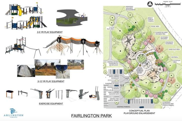 Fairlington Park playground plan