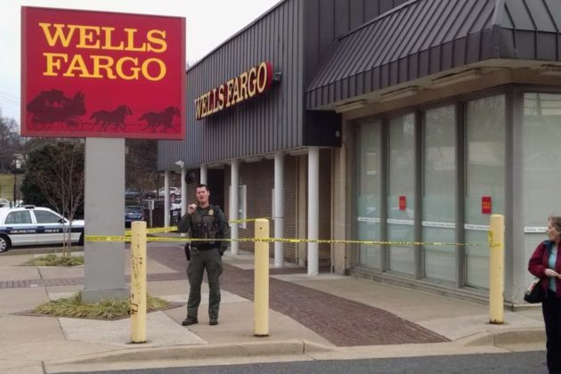 Wells Fargo in Westover after robbery (photo courtesy Cliff DeGray)