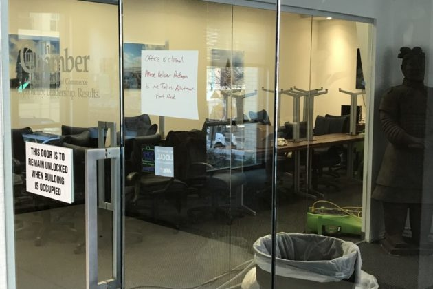 Flooding closes the Arlington Chamber of Commerce and a gym in Courthouse