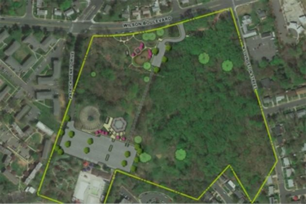 Upton Hill Regional Park aerial view (via NOVA Parks presentation)