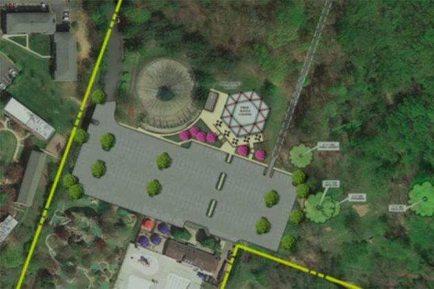 Park's upper area, where rope course will go (via NOVA Parks presentation)