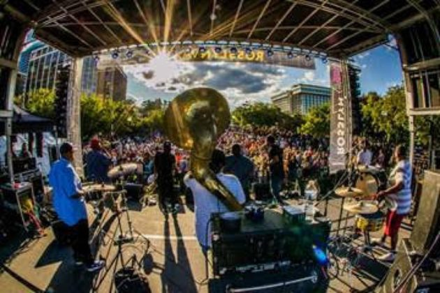 The party was definitely 'on' when The Soul Rebels took the stage at the 2017 Rosslyn Jazz Festival.