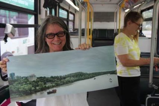 These images of Arlington's Potomac River shoreline are by photographer Anne Rowland, the latest noted regional artist whose original work is exhibited on specially-outfitted Arlington Transit buses, curated via Arlington Arts' Art on the ART Bus program.