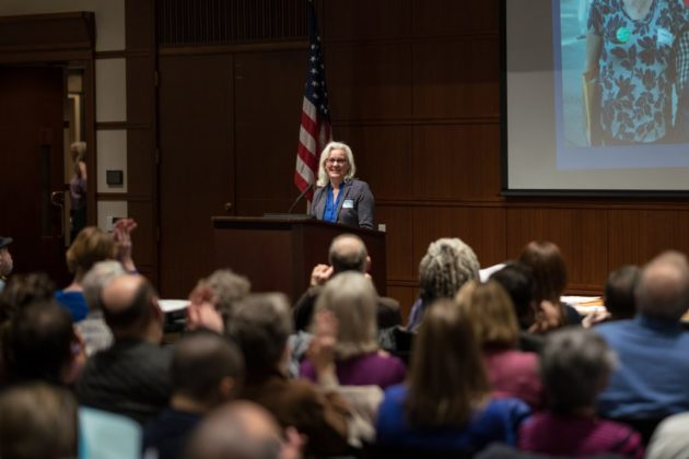 Arlington County Democratic Committee meeting Jan. 2018 (photo by Kevin Wolf)