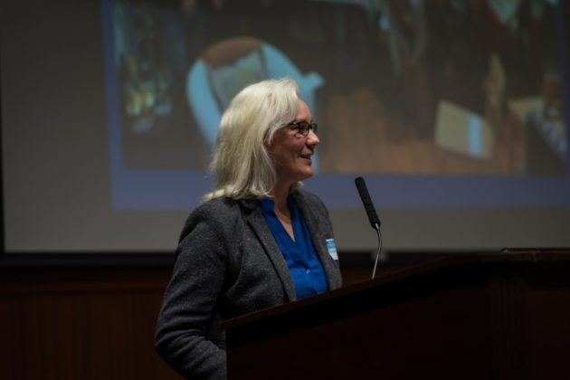 Barbara Kanninen at Jan. 2018 ACDC meeting (photo by Kevin Wolf)