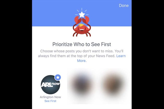 """Finally select or """"star"""" profiles that you want to prioritize in your News Feed."""