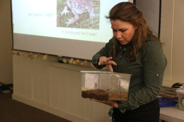 Rachael Tolman instructs the training class at the Long Branch Nature Center.