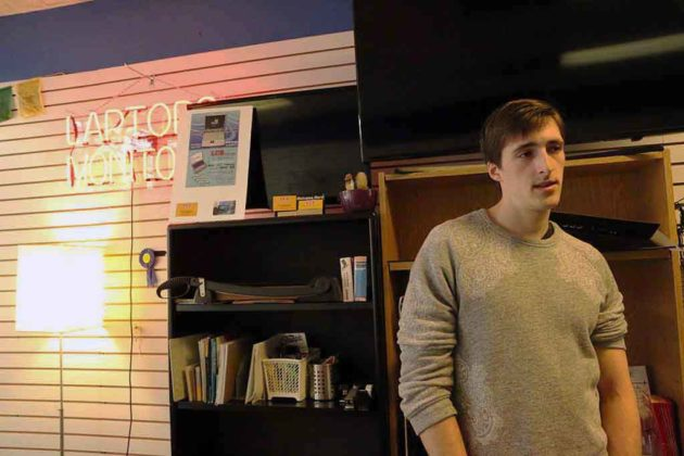 James Sampson gives a tour of his shop.