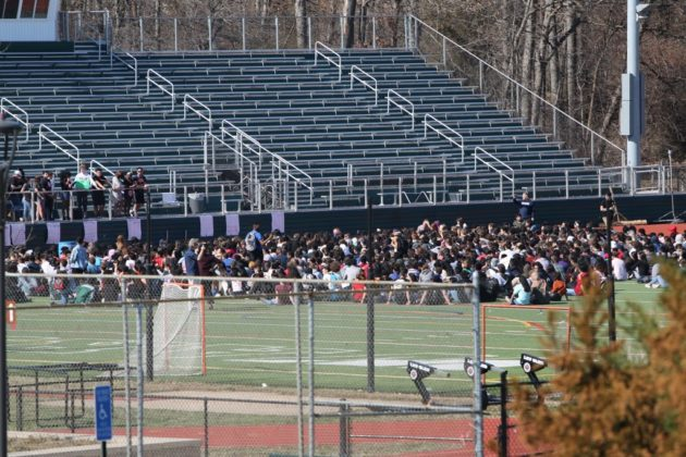 Student walkout at Wakefield High School in support of gun control legislation