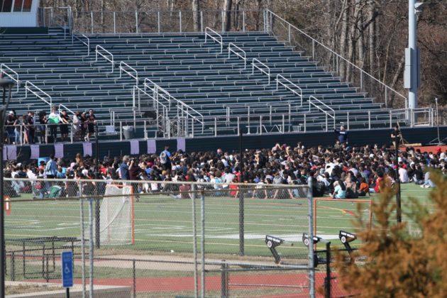 Student walkout at Wakefield High School in support of gun control legislation