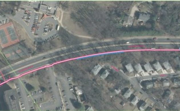 The project will complete a sidewalk on the south side of Old Dominion Drive. (Photo via Arlington County)