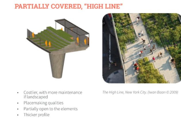 Another of the possible options for the Crystal City pedestrian walkway. Via Crystal City BID study.