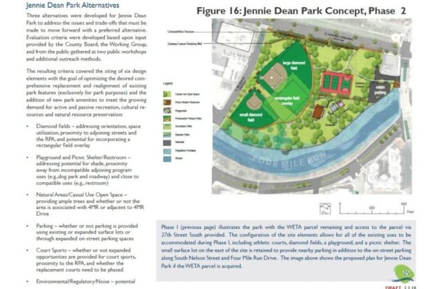 Jennie Dean Park proposal via Arlington County
