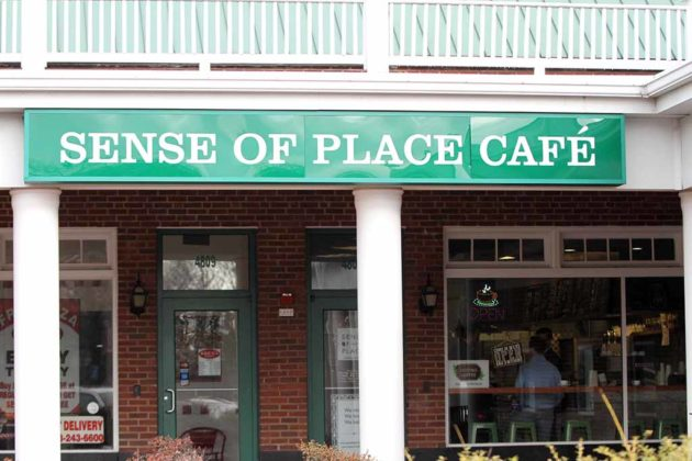 The storefront of Sense of Place cafe