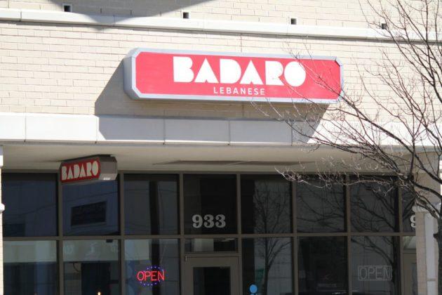 Sign for Badaro Lebanese restaurant