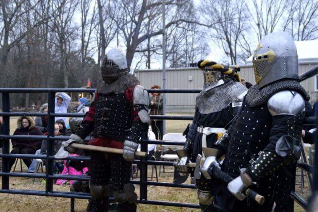 Steel fighters preparing for a round (courtesy of Sam Jensen)