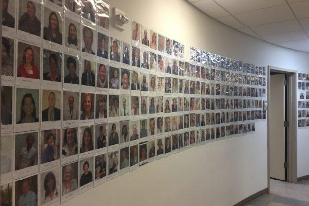 The photo gallery wall of volunteers