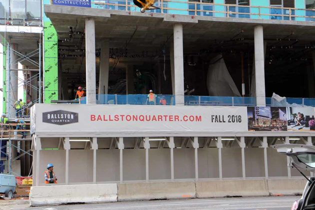 Construction at Ballston Quarter
