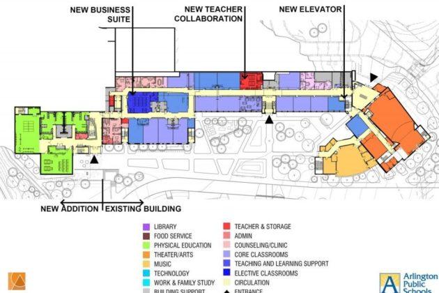 Stratford renovation's first floor plan