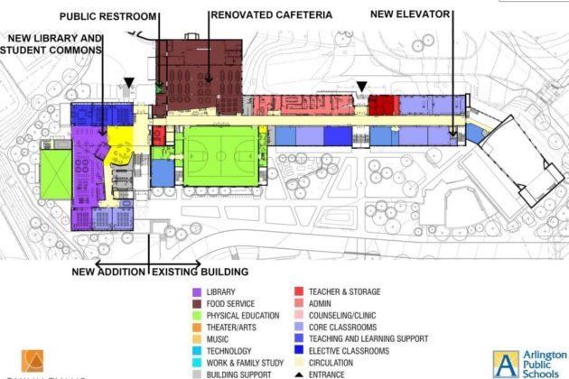Stratford renovation's second floor plan
