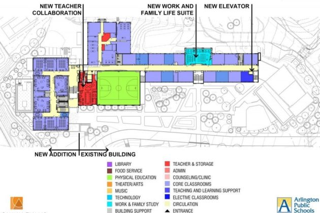 Stratford renovation's third floor plan
