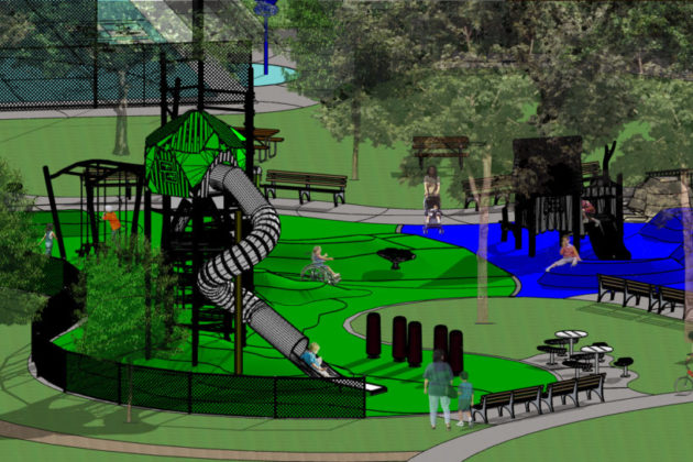 A rendering of the renovations at Dawson Terrace Park (via Arlington County)