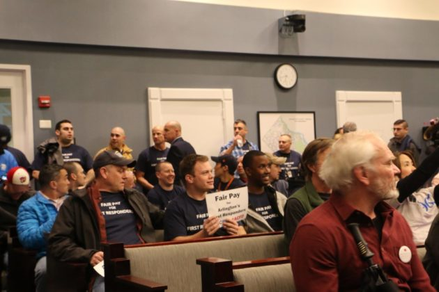 First responders protest stagnant wages