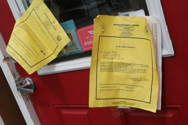 Eviction notices at Cafe Italia
