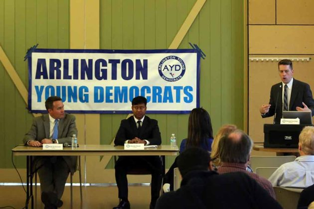 Both candidates at the Arlington Young Democrats-hosted debate