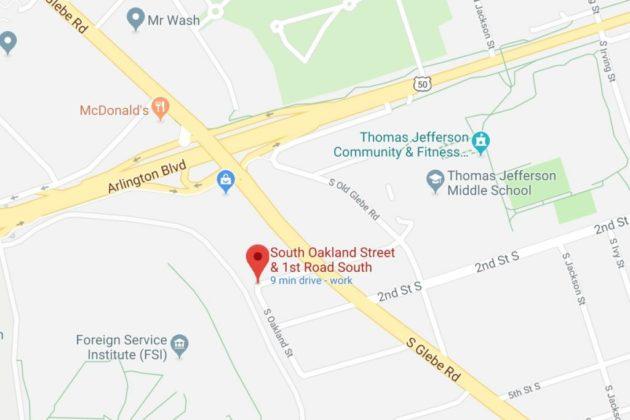 Map of trash fire (via Google Maps)