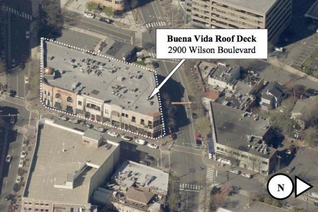 Future rooftop bar location (via Arlington County)