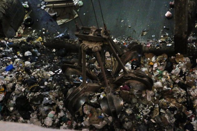 A view of the trash pit