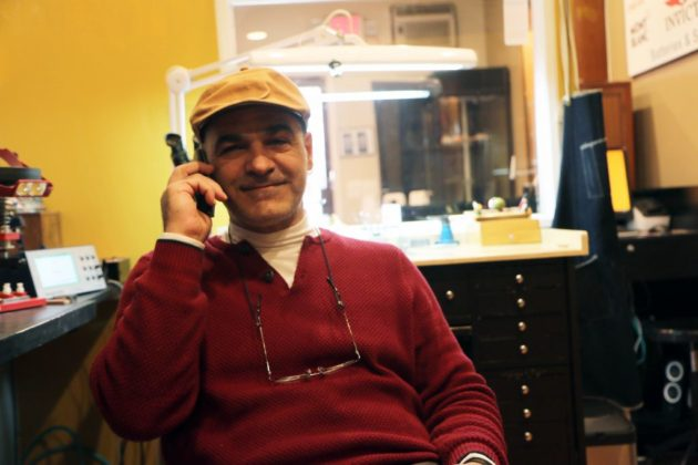 Dan Sabouni takes a call from a potential client