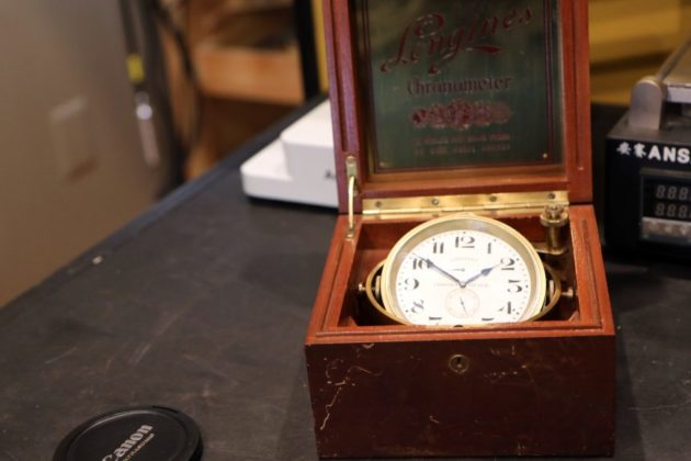A chronometer in for repairs