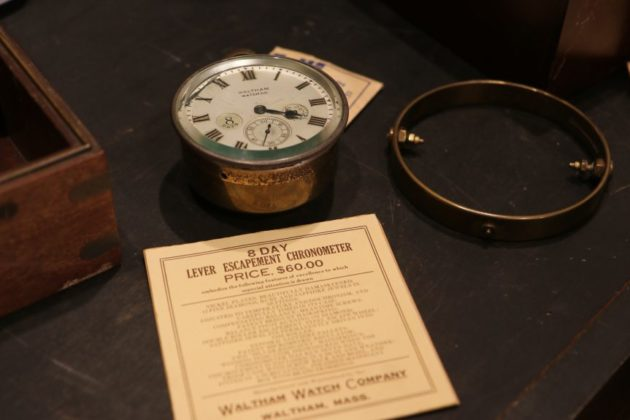 A chronometer, in for repairs, alongside its original bill of sale
